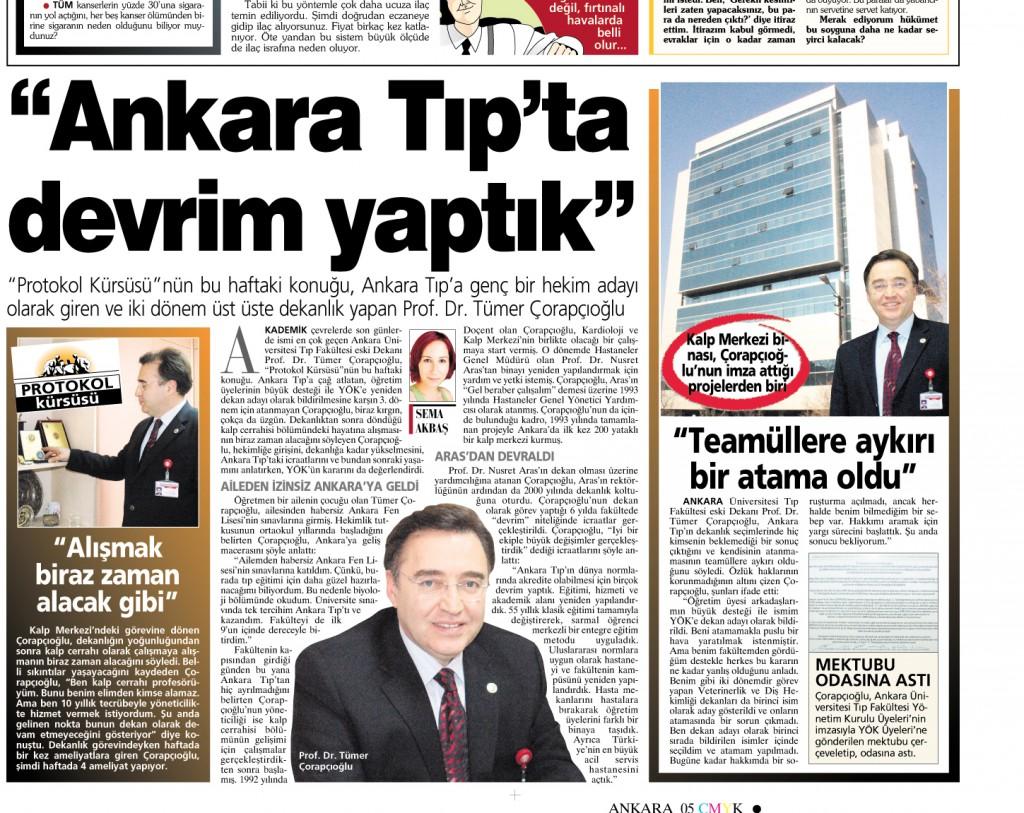 Ankara Tıp'ta Devrim Yaptık